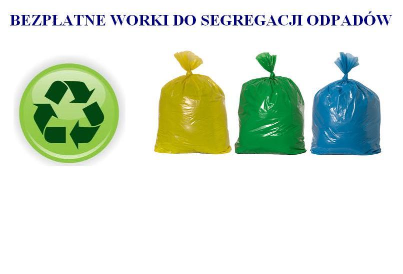 Bezpłatne worki dla mieszkańców do segragacji odpadów