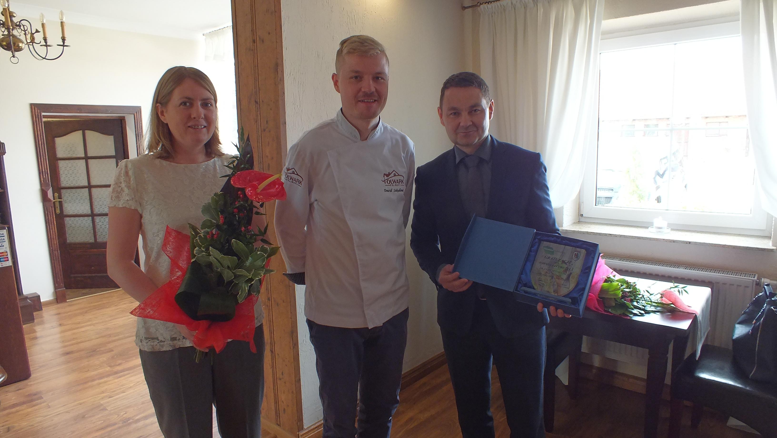 Wójt Gminy Lubiszyn Artur Terlecki spotkał się zDawidem Szkudlarkiem -Top Chef szóstej edycji.