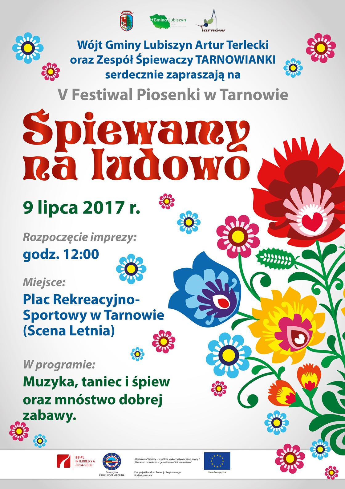 V Festiwal Piosenki wTarnowie - Śpiewamy na ludowo